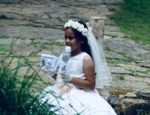 First Communion girl, The Old Mill Park, North Little Rock
