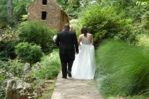 Wedding couple, The Old Mill Park, North LIttle Rock