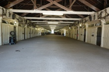 One of the many huge stables